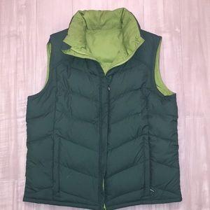 Green Reversible Columbia Vest, size L